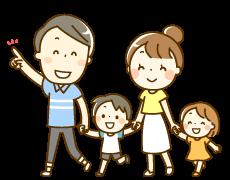 夫婦と子供2人